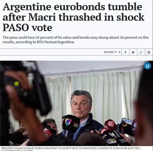股市崩盘、汇率崩盘、债券崩盘!昨夜,阿根廷吓坏全球 中国金融观察网www.chinaesm.com